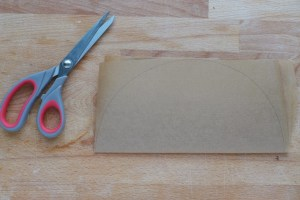 fold the parchment in half