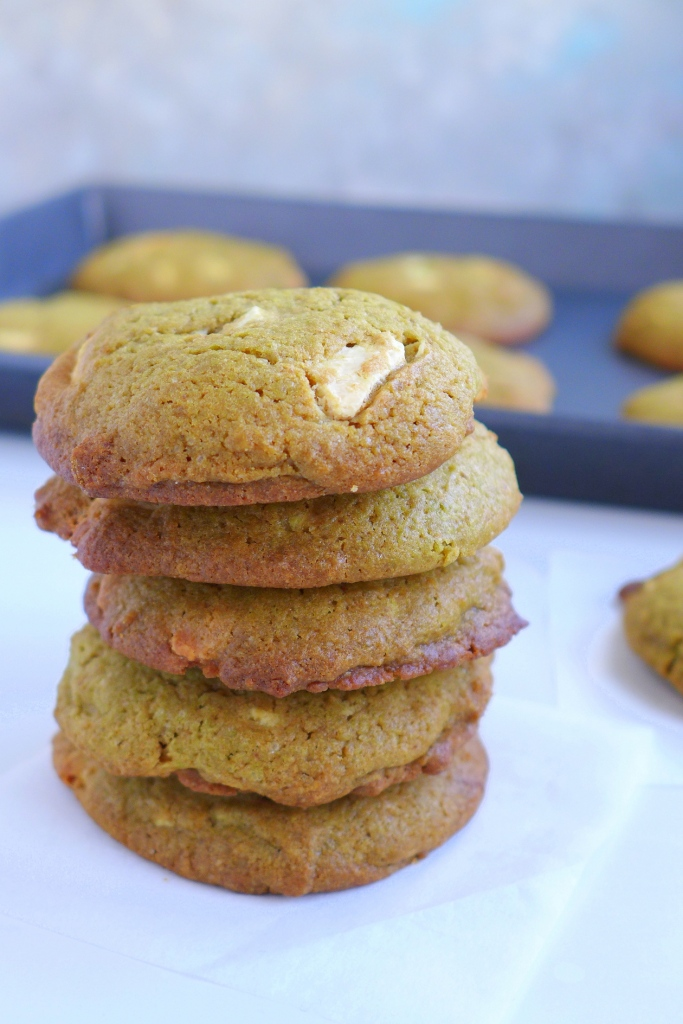 Baked Matcha White Chocolate Chip Cookies
