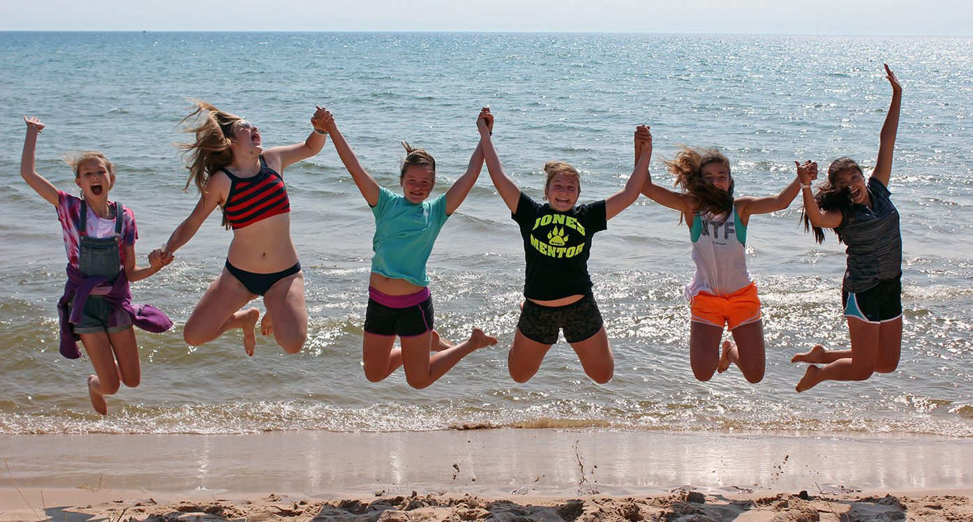 Juniors jump on Lake Michigan beach