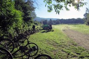 Merrowvista summer camp Voyageur bikes in field