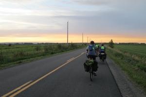 Merrowvista Voyageurs bike in Nova Scotia before sunset