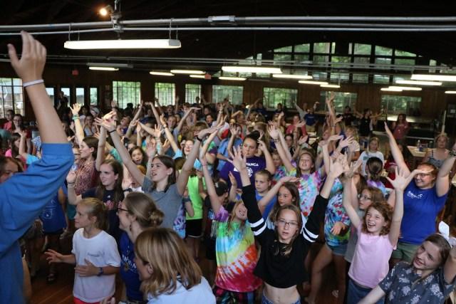 Flash Mob, Girls Camp, Miniwanca, Summer Camp