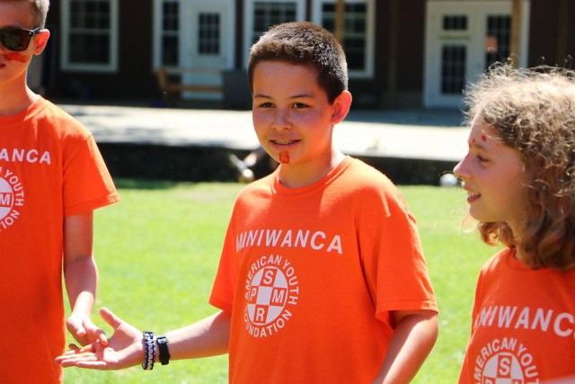 Miniwanca campers playing a game