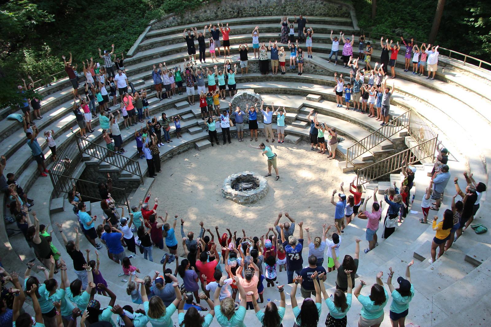 closing council, miniwanca, one week camp, summer camp, lake michigan, Michigan Summer camp
