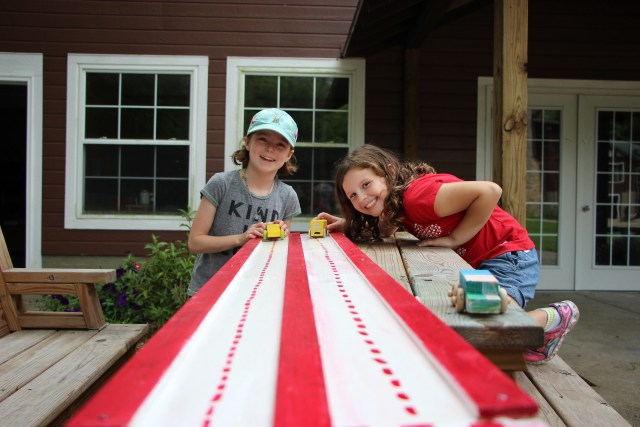 Miniwanca, woodshop, girls camp
