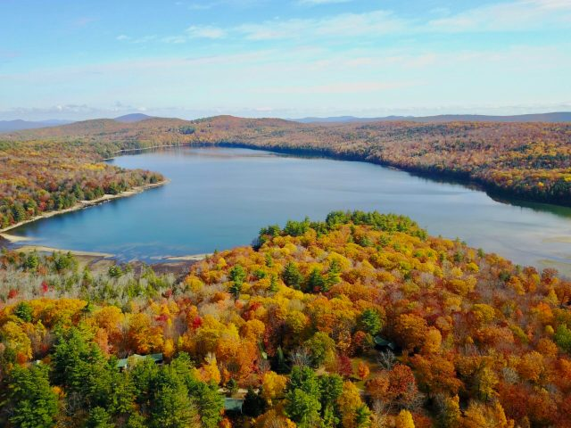 Fall Aerial Lake View