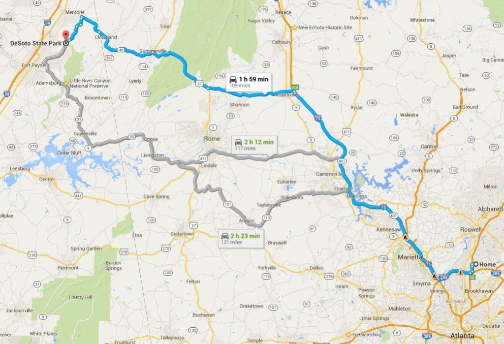 Atlanta-DeSoto State Park- yol