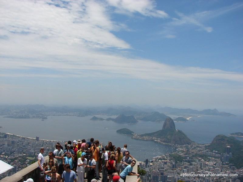 Corcovado'dan Sugar Loaf Tepesi ve Genel Manzara - Rio de Janeiro