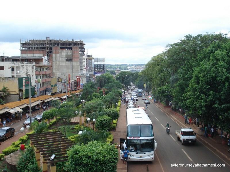 Şehrin genel manzarası - Ciudad del Este