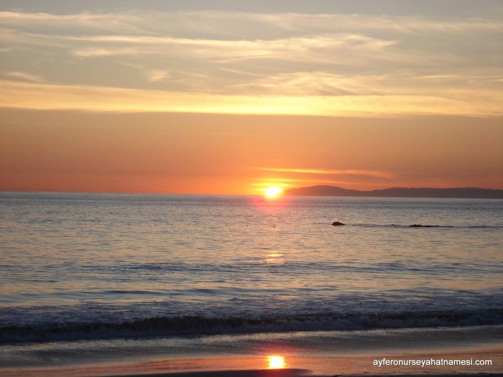 Laguna Beach'ten gün batımı...