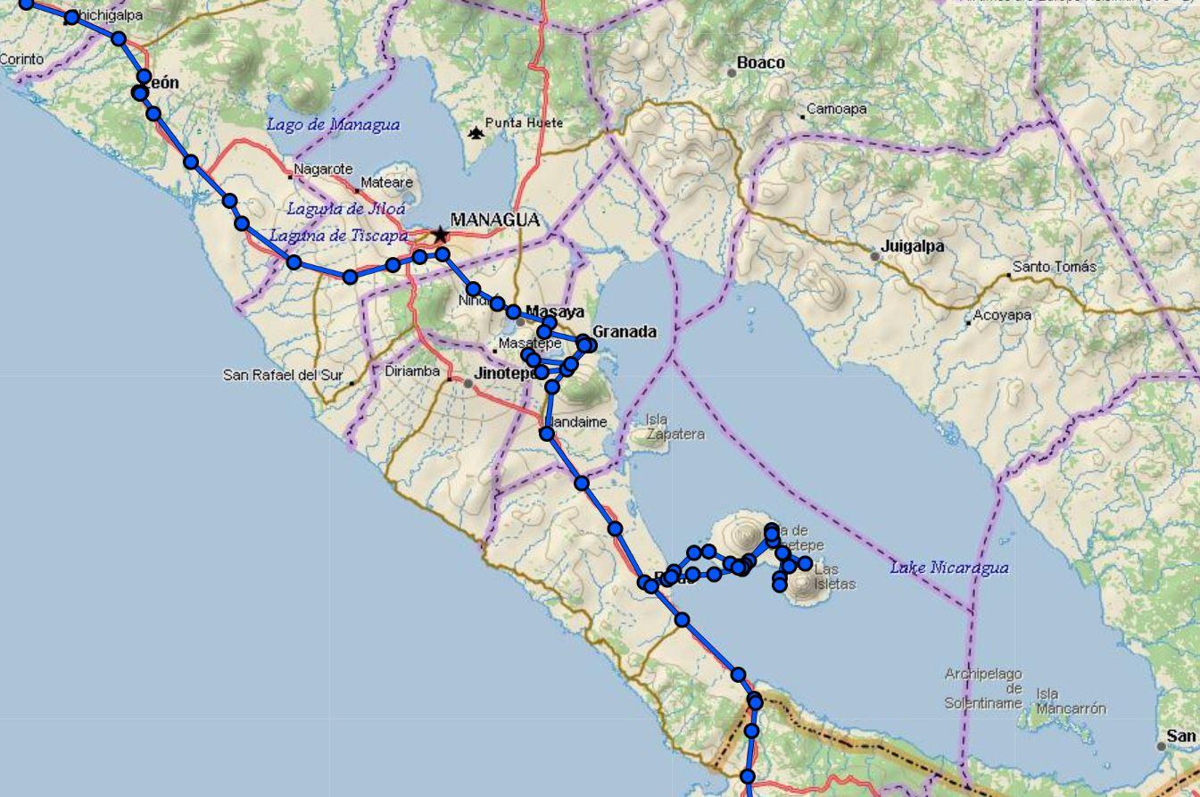 Nikaragua Rotamız