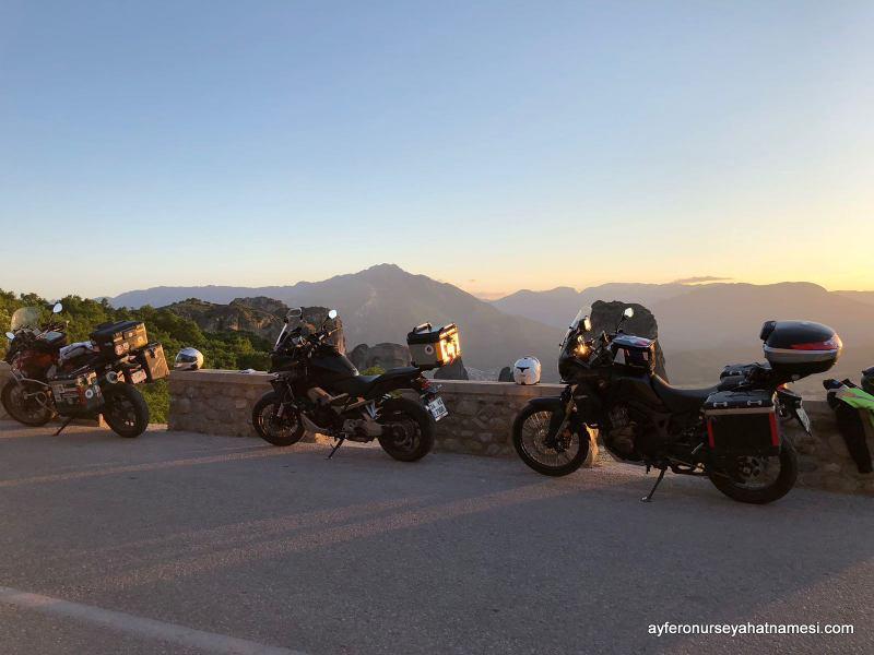 Meteora gün batımı...