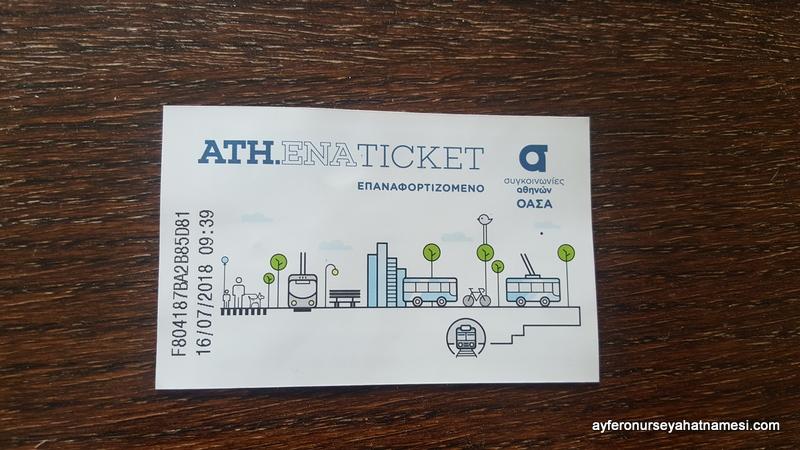 Atina metro kartı