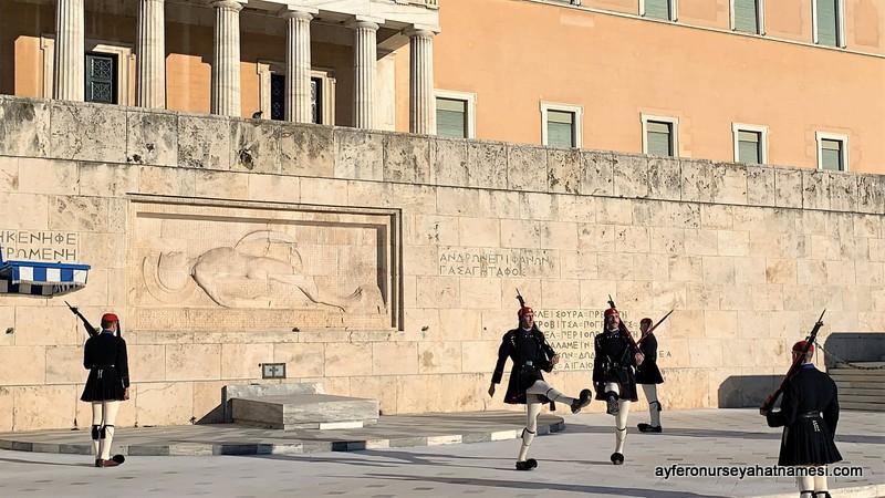 Atina asker nöbet değişim töreni