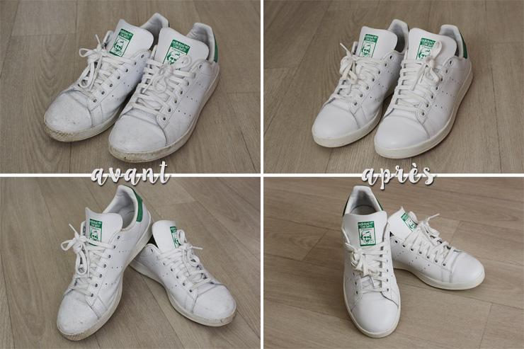 nettoyer chaussure blanche adidas