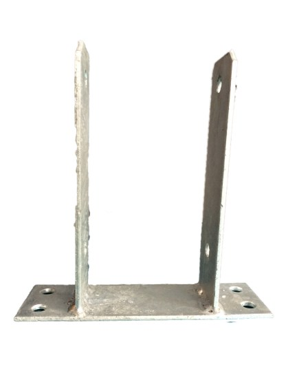 Bolt Down U Post Support Bracket galvanised