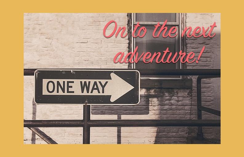Laatste werkdag: One way to the next adventure