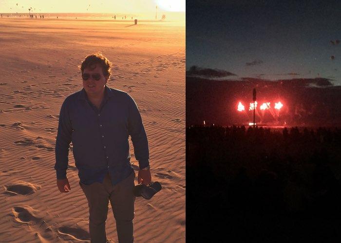 Weekoverzicht #9 Schevenigen Jan op strand vuurwerk