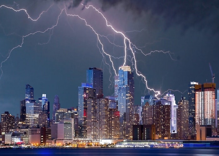 Storm boven New York