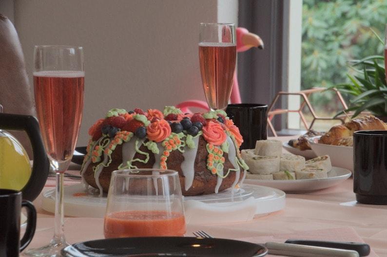 Recept voor tulband cake met mooie decoraties