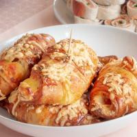 Ham/kaas croissants, net zo lekker als bij het bakkertje!