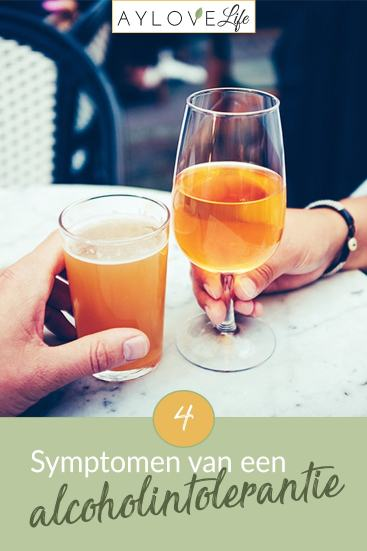 symptomen van een alcoholintolerantie