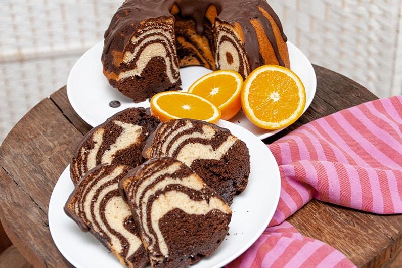 Zebracake met chocolade en burenliefde