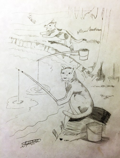 AYLUS_Art_Sophie Wen_Cat_Fishing