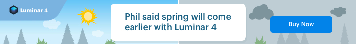 Luminar 4 Groundhog Day Deal!