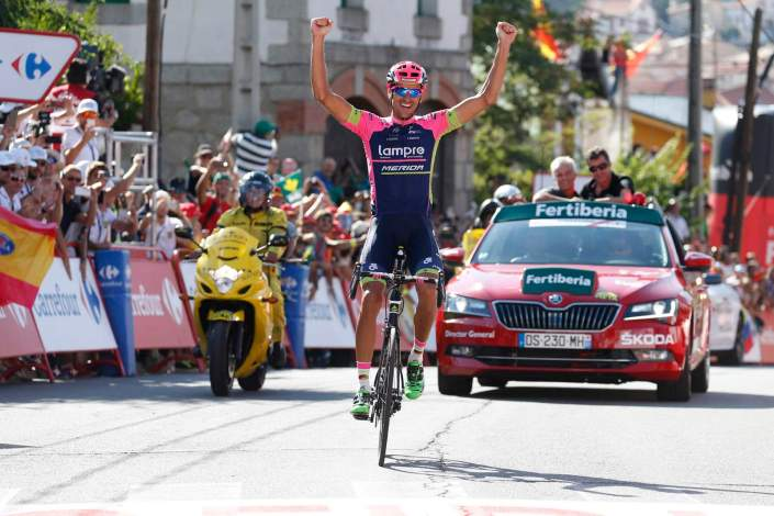 12 September 2015 70th Vuelta a Espana Stage 20 : San Lorenzo de El Escorial - Cercedilla 1st : PLAZA Ruben (ESP) Lampre - Merida Photo : Yuzuru SUNADA