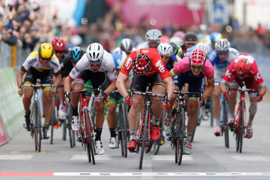 13 May 2016 99th Giro d'Italia Stage 07 : Sulmona - Foligno 1st : GREIPEL Andre (GER) Lotto - Soudal Photo : Yuzuru SUNADA
