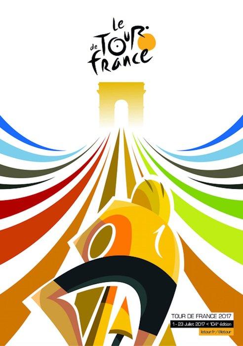 Le Tour 2017'nin oylarla seçilen resmi posteri.