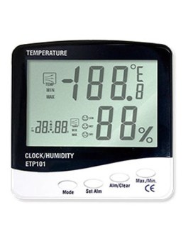 3 IN 1 Thermometer Hygro and Clock Type ETP101