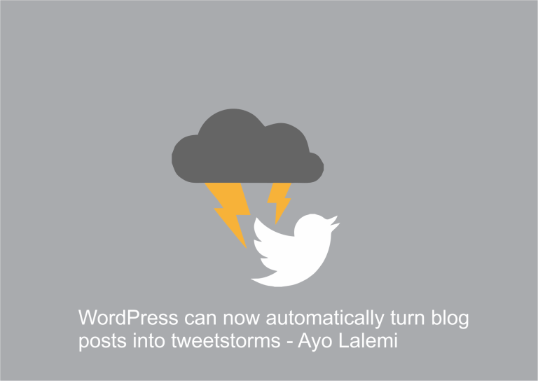 WordPress can now automatically turn blog posts into tweetstorms