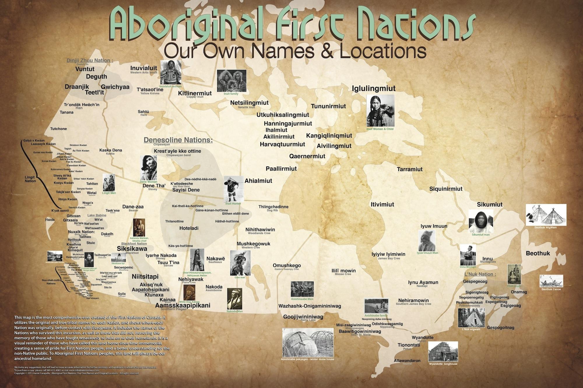 Map Of Aboriginal Canada By Aaron Ca Lla Ayo