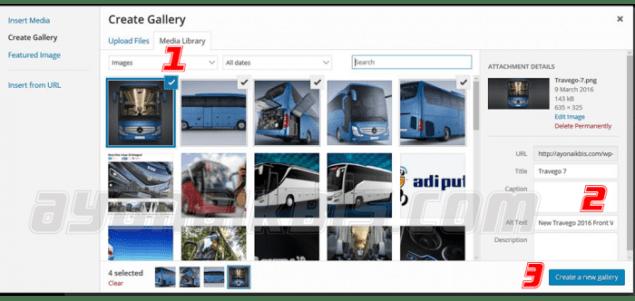 Panduan Membuat Galeri foto Bis
