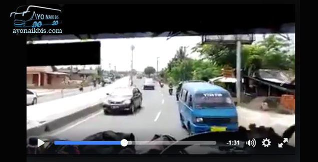 Video Bus PO. Luragung Nekat Melawan Arus