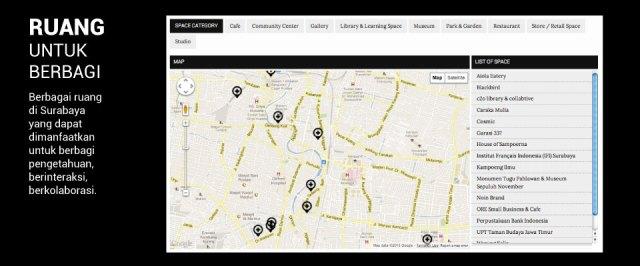 peta ruang publik surabaya