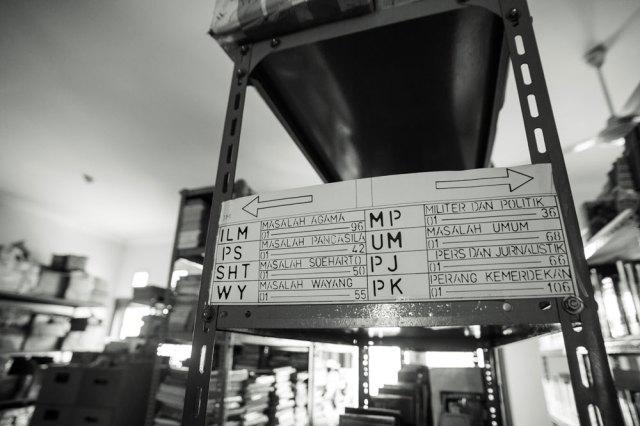 Sistem katalogisasi Oei. Foto: Erlin Goentoro