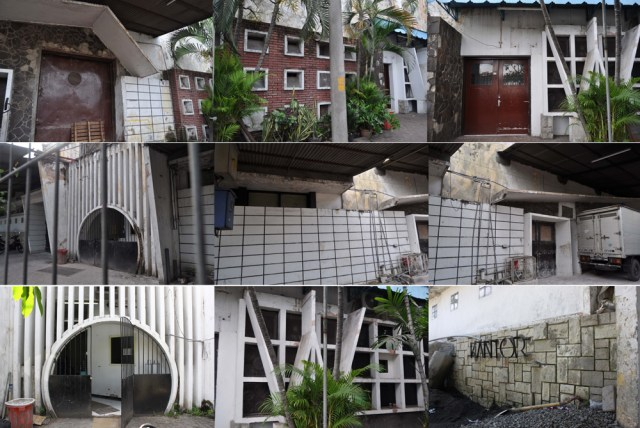 Fasad pabrik cokelat Cendrawasih yang kaya akan ragam hias hasil keterampilan tukang pekerja bangunan