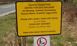 Dog Walkers – READ AND OBEY livestock Warning Notices!