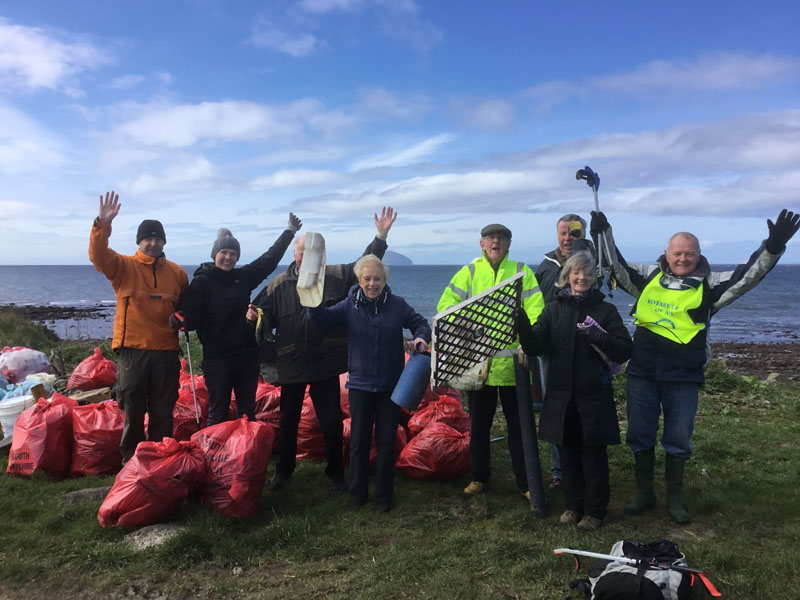 13th Annual South Ayrshire Rotary Beach Clean Success