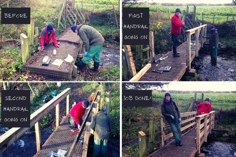 New handrails for bridge