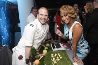 Chef Zac Young and Adrienne Bailon