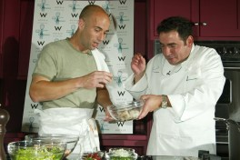 Andre Agassi and Emeril Lagasse