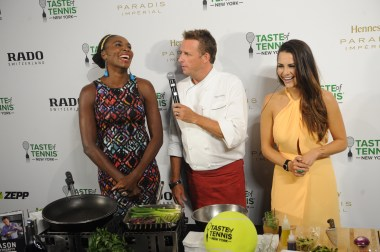 Venus Williams, Marc Murphy, Andi Dorfman @ 2015 Taste of Tennis New York