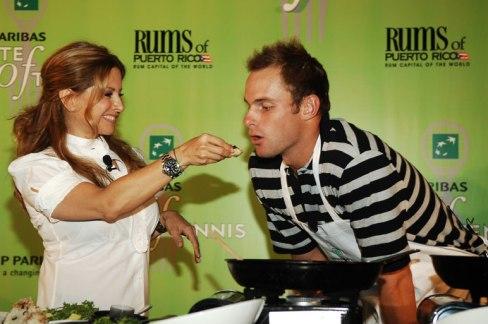 Ingrid Hoffman and Andy Roddick