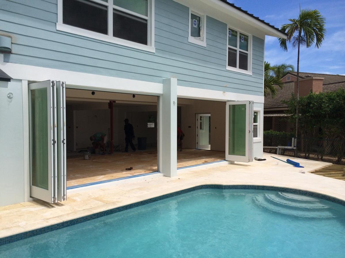 impact bifolding door installation at