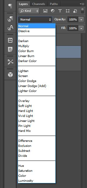 layer blend mode effects options
