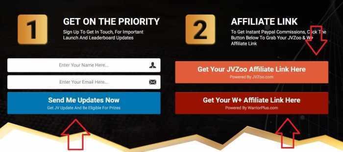 Traffic Robot JP page Affiliate Links